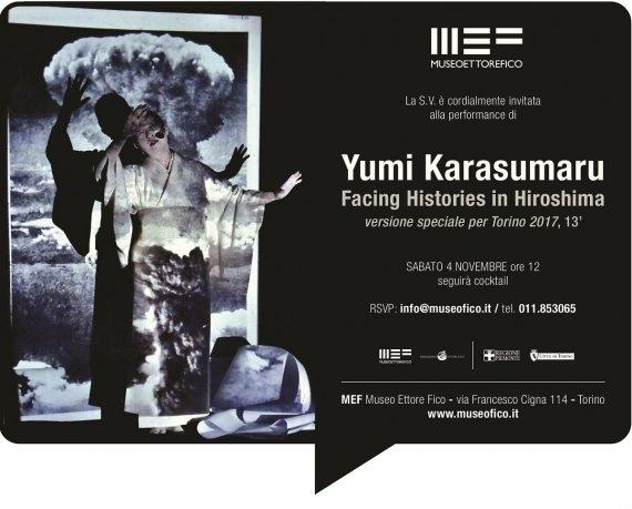 "Yumi Karasumaru ""Facing Histories in Hiroshima"" performance @Museo Ettore Fico"